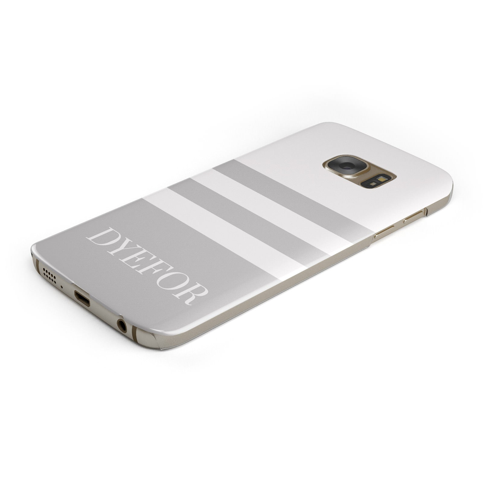 Stripes Personalised Name Samsung Galaxy Case Bottom Cutout