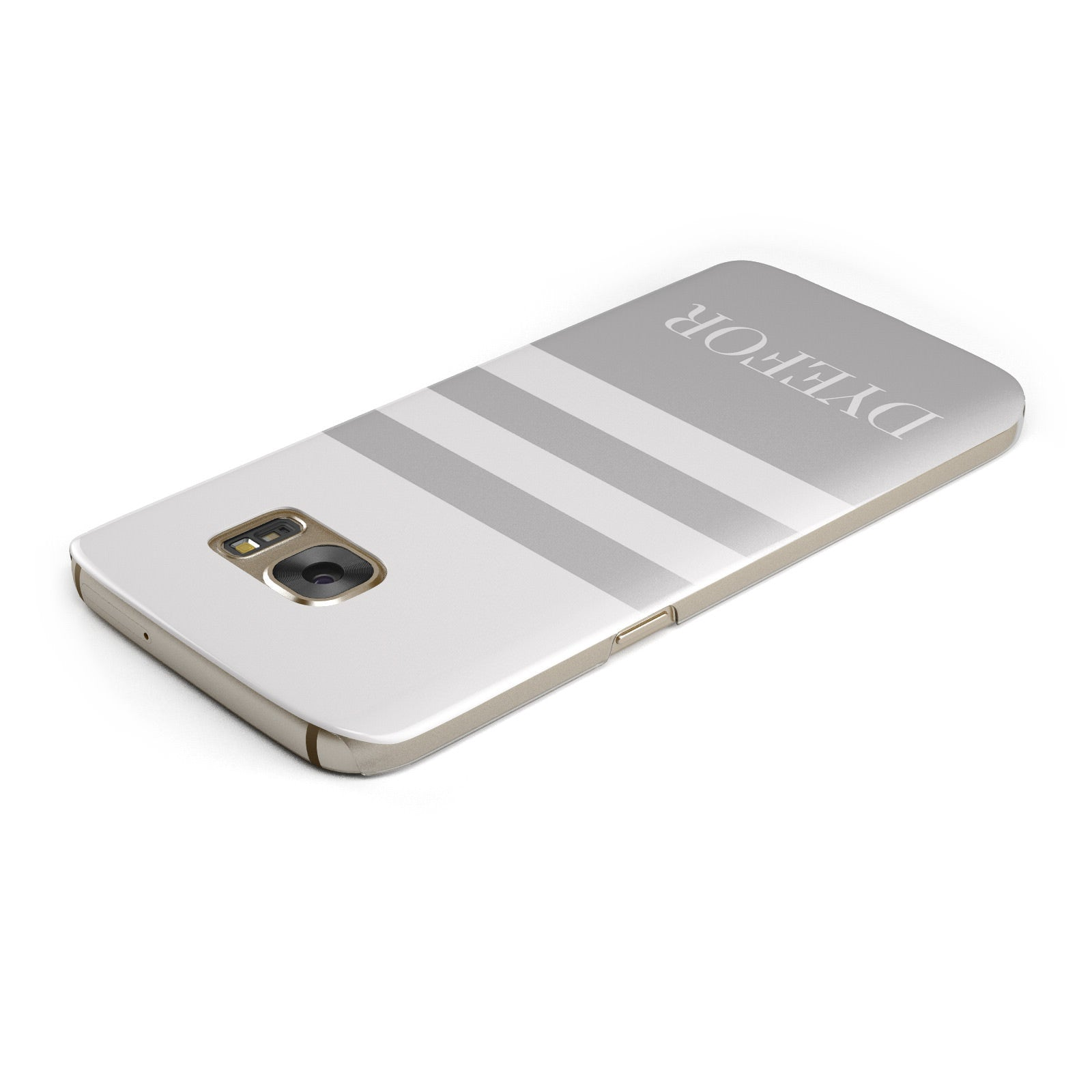 Stripes Personalised Name Samsung Galaxy Case Top Cutout