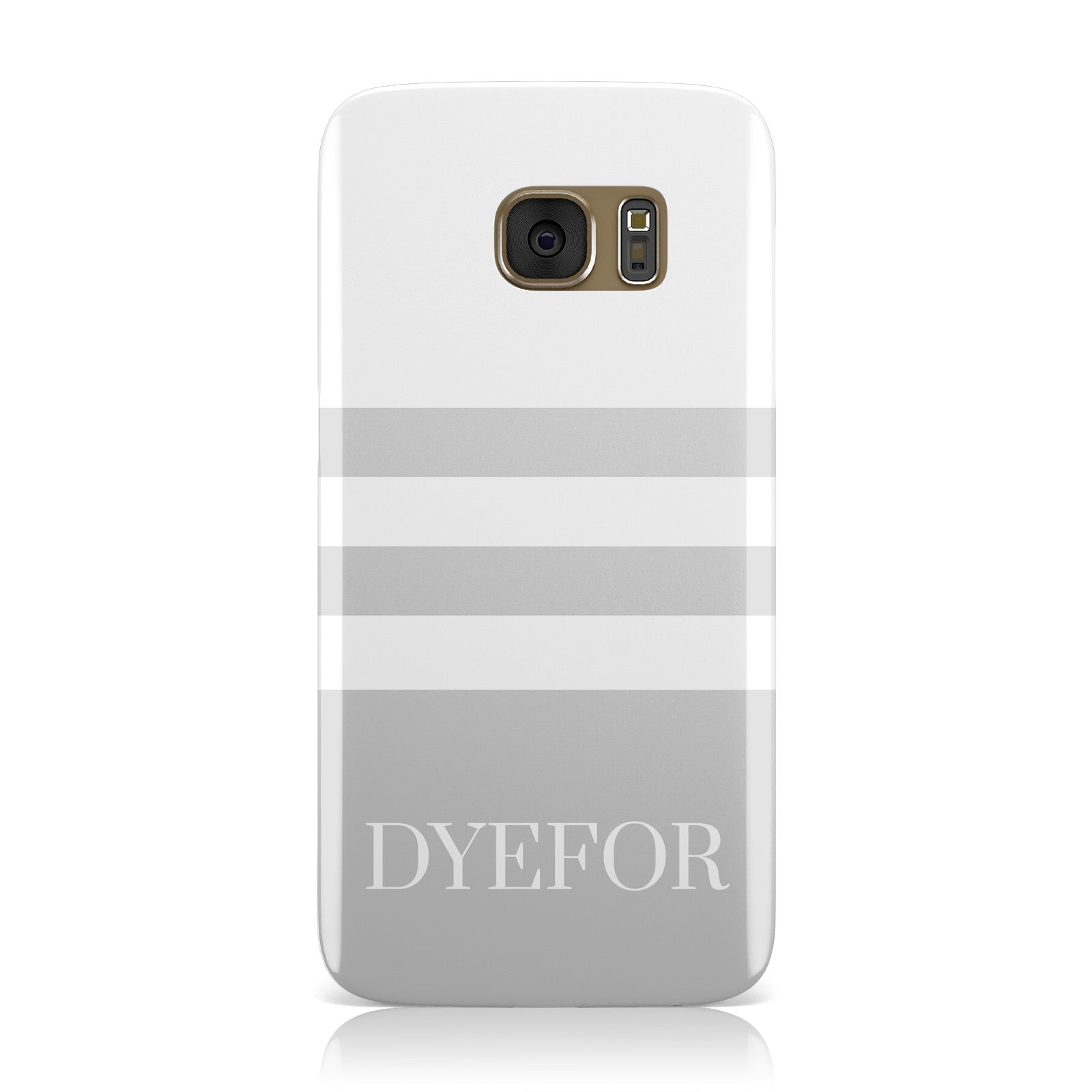 Stripes Personalised Name Samsung Galaxy Case