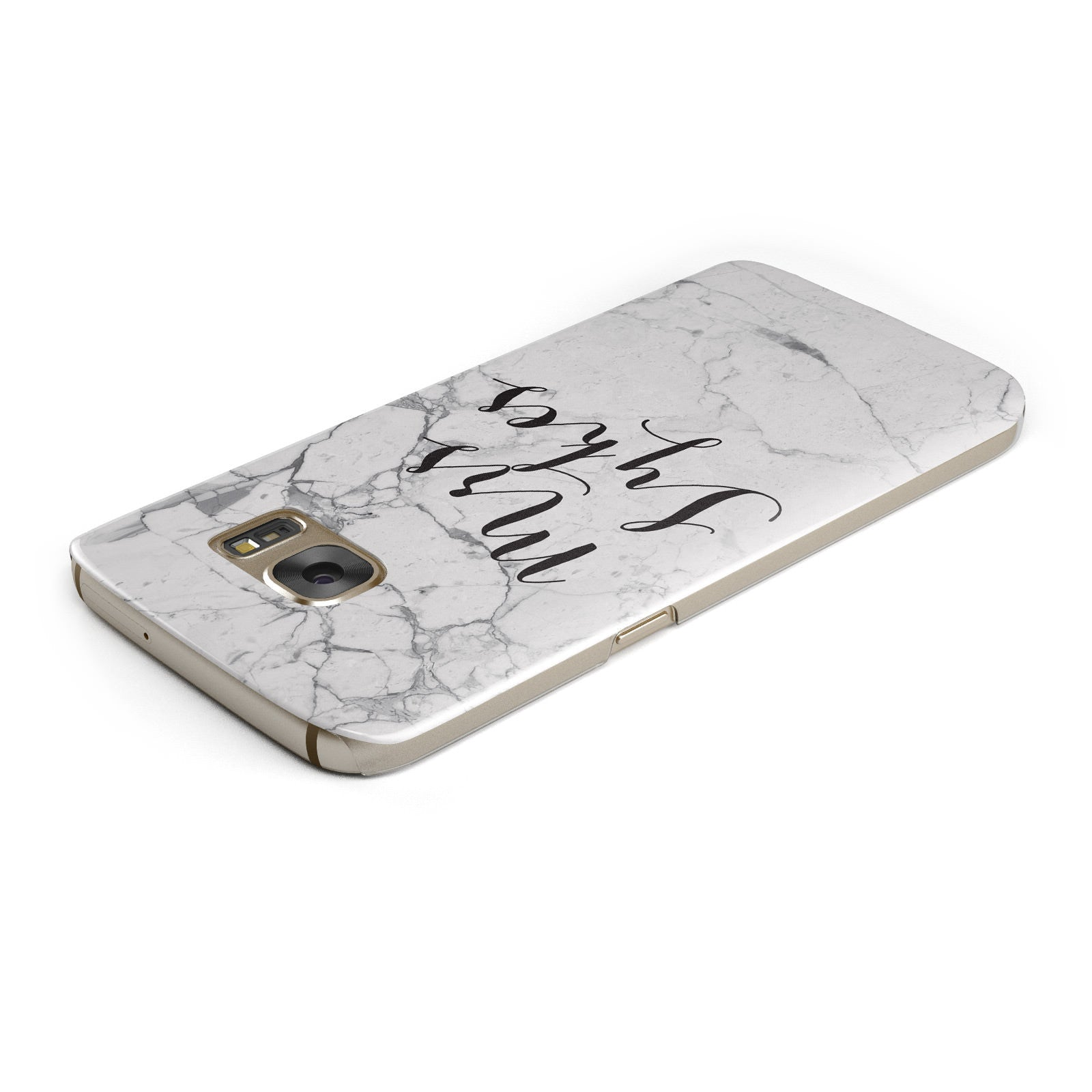 Surname Personalised Marble Samsung Galaxy Case Top Cutout