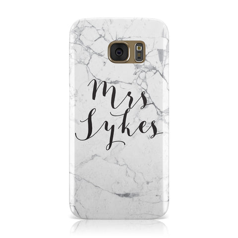 Surname Personalised Marble Samsung Galaxy Case
