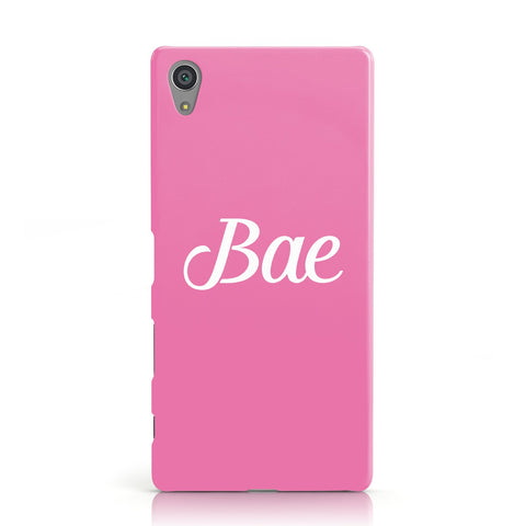 Valentines Bae Text Pink Sony Xperia Case