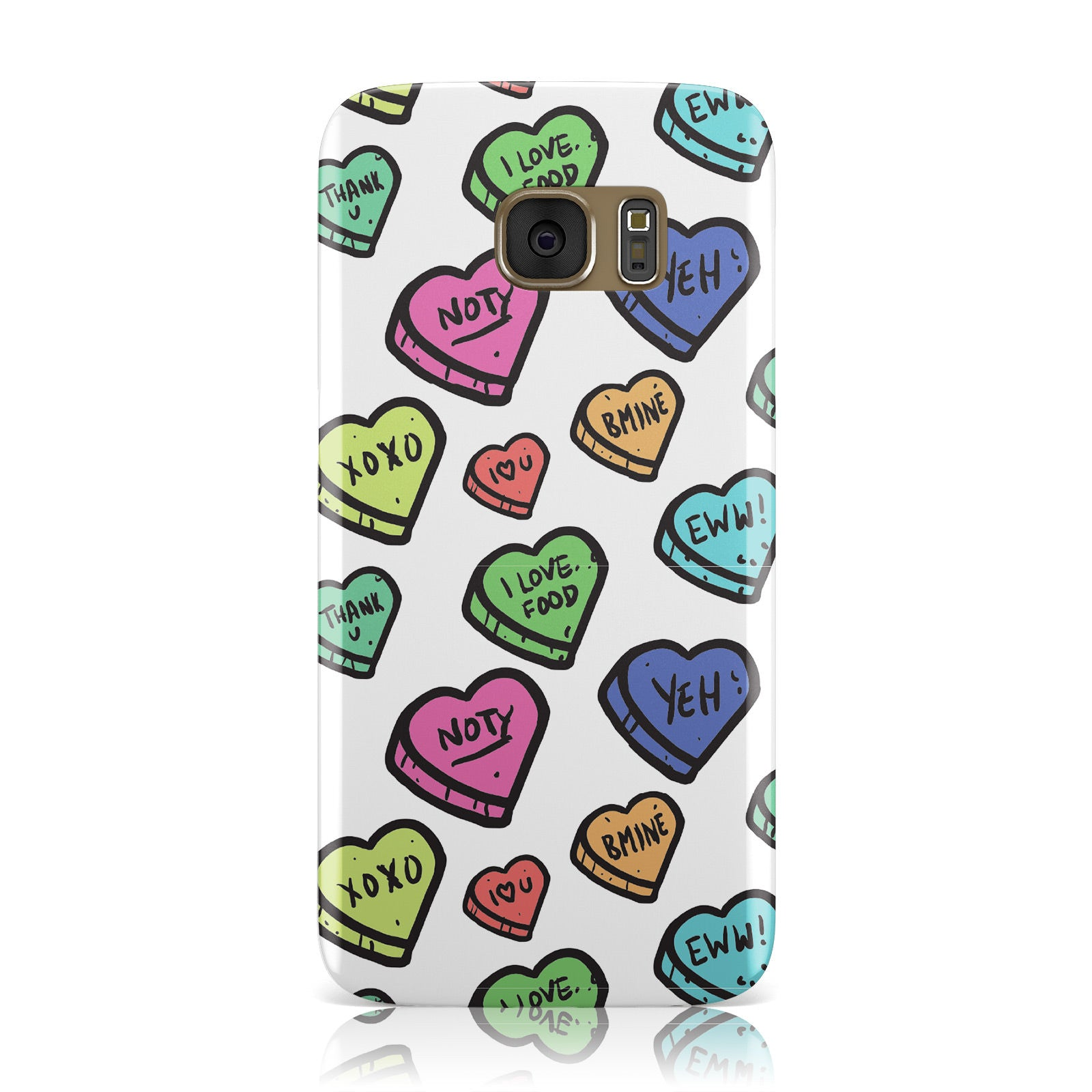 Valentines Love Heart Sweets Samsung Galaxy Case