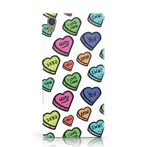 Valentines Love Heart Sweets Sony Xperia Case