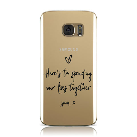 Personalised Valentines Message Name Transparent Samsung Galaxy Case