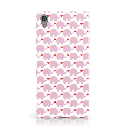 Valentines Pink Elephants Sony Xperia Case