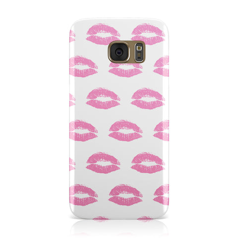Valentines Pink Kisses Lips Samsung Galaxy Case
