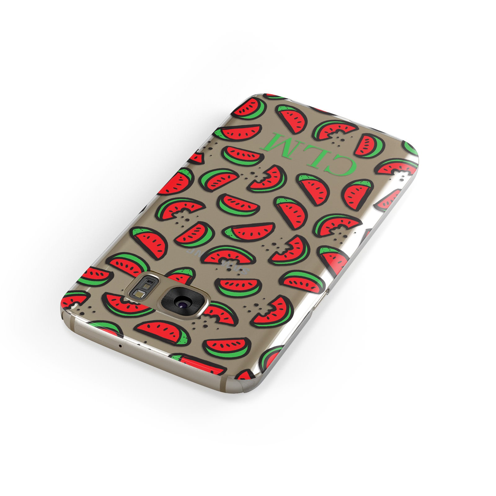 Personalised Watermelon Initials Samsung Galaxy Case Front Close Up