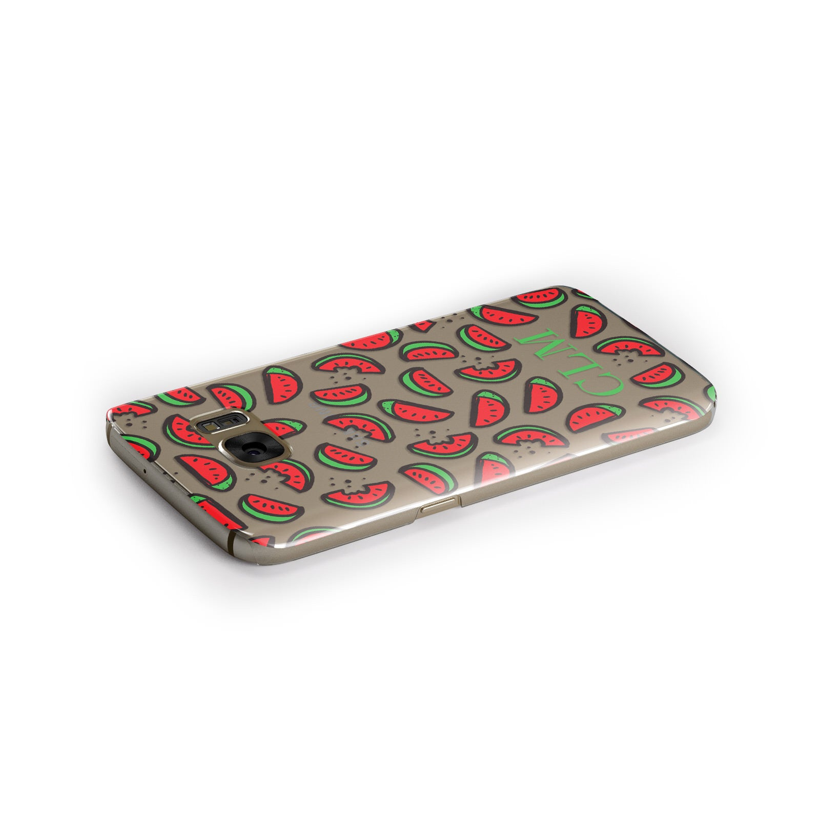 Personalised Watermelon Initials Samsung Galaxy Case Side Close Up