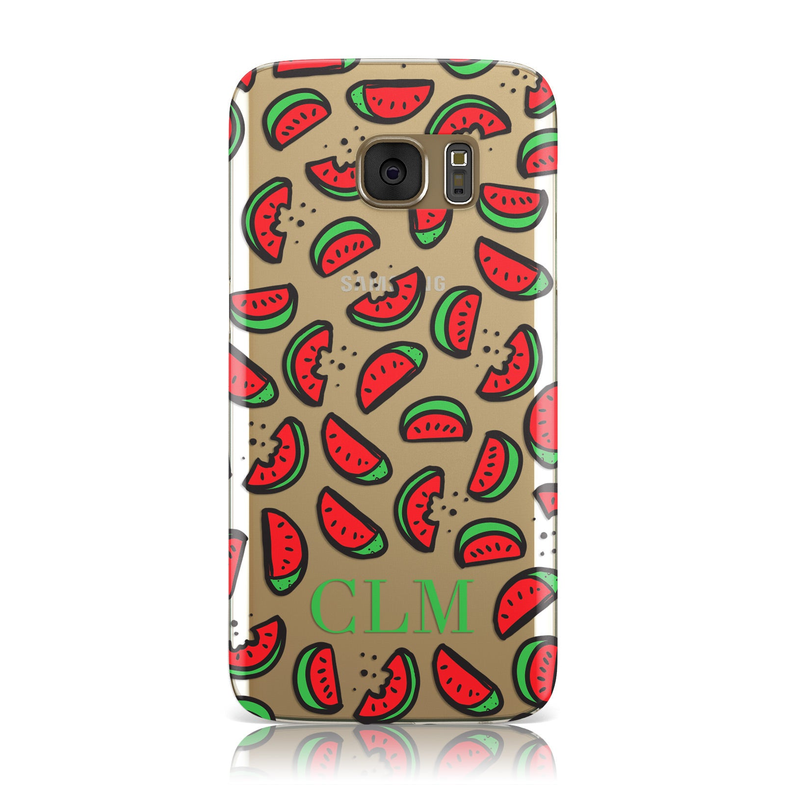 Personalised Watermelon Initials Samsung Galaxy Case