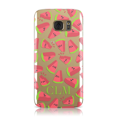 Personalised Watermelon Monogram Samsung Galaxy Case