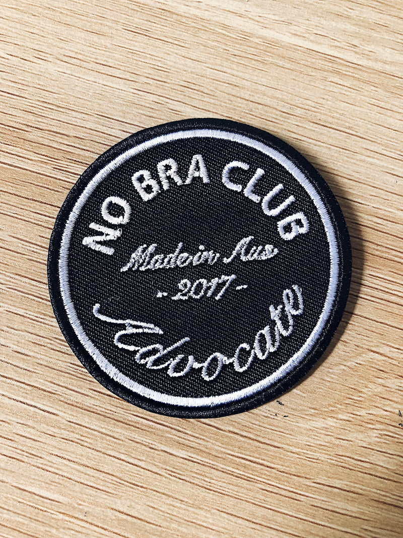 NO BRA CLUB ADVOCATE | Iron on Patch