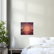 02 Sunset Flower Square Aluminium Print