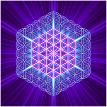 01 Flower Of Life Square Aluminum Print