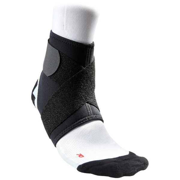 MC DAVID 432R ANKLE SUPPORT W/STRAP BLACK