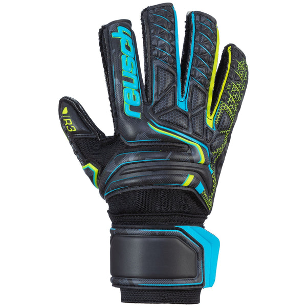 REUSCH JR ATTRAKT R3 BLACK/SAFETY YELLOW/BLACK