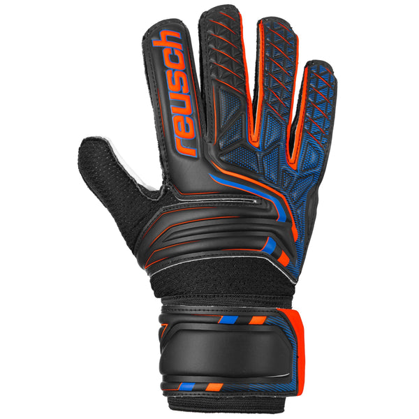 REUSCH JR ATTRAKT SG BLACK/SHOCKING ORANGE/DEEP BLUE/YELLOW
