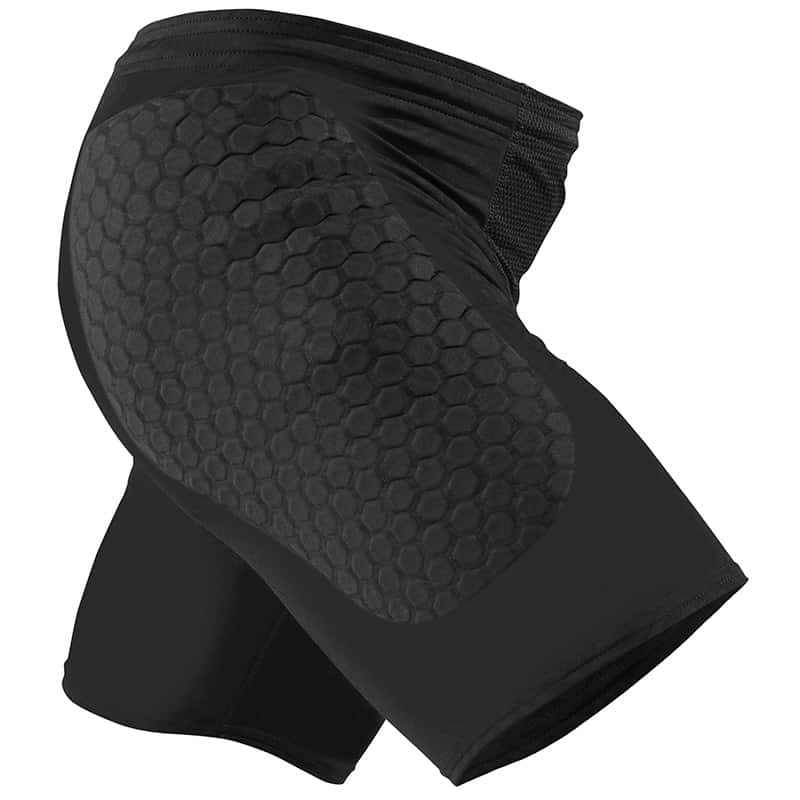 MC DAVID JR 724 GK HEXPAD SLIDING SHORT BLACK
