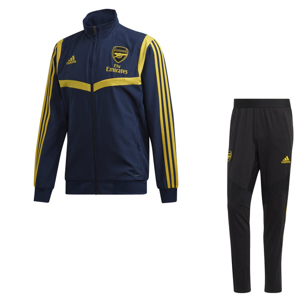 ADI ARSENAL 19-20 EU PRE SUIT COLLEGIATE NAVY/EQT YELLOW