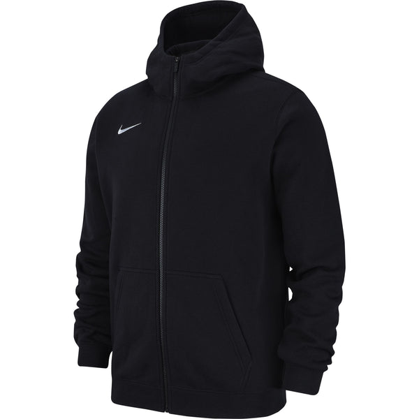 NIKE JR TEAM CLUB19 FULL-ZIP HOODIE BLACK/WHITE