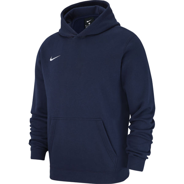 NIKE JR TEAM CLUB19 HOODIE OBISIDIAN/WHITE