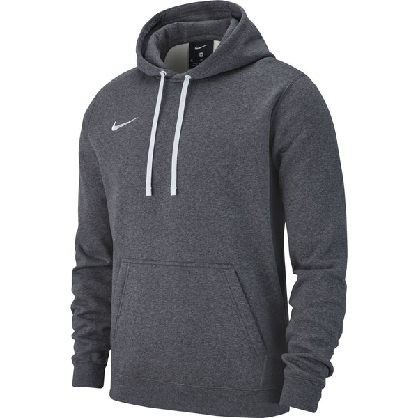NIKE TEAM CLUB19 HOODIE CHARCOAL HEATHER/ANTHRACITE/WHITE
