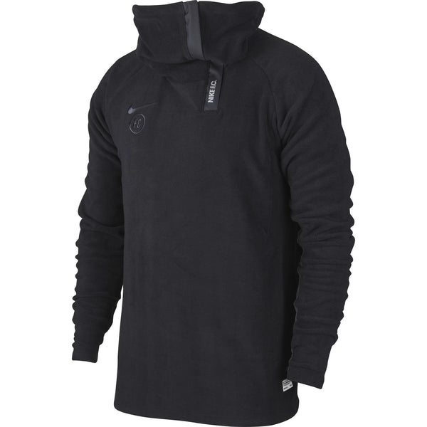 NIKE FC19 FLEECE DRILL TOP BLACK/ANTHRACITE