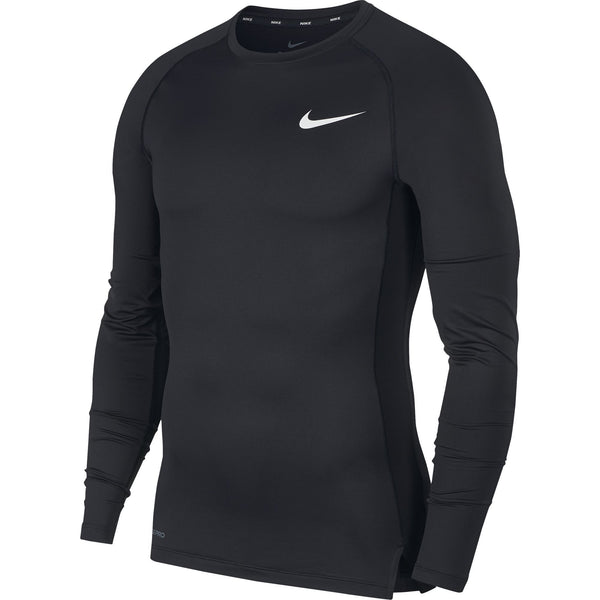 NIKE PRO TOP COMPRESSION CREW LS BLACK