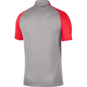 NIKE TROPHY IV JERSEY SS PEWTER GREY/BRIGHT CRIMSON/BLACK