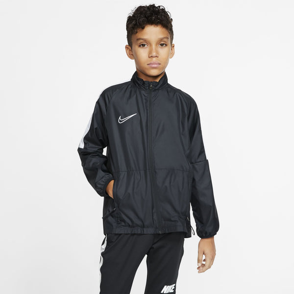 NIKE JR REPEL ACADEMY RAINJACKET BLACK/WHITE/REFLECTIVE SILV