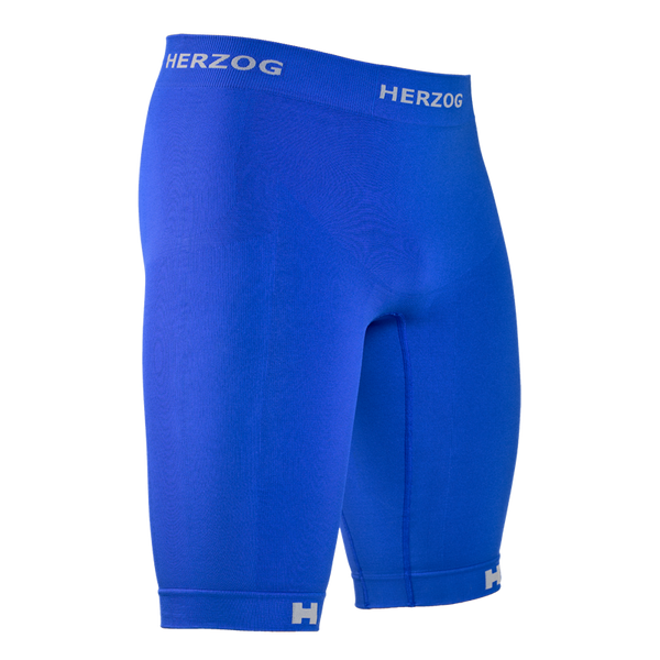HERZOG PRO COMPRESSION SHORT BLUE