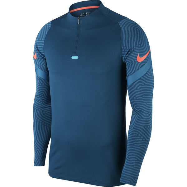 NIKE DRY-FIT19 STRIKE DRILL TOP VALERIAN BLUE/LASER CRIMS