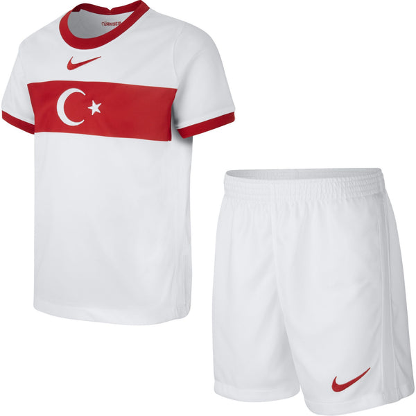 NIKE JR TURKIJE 20 LB HOME KIT WHITE/SPORT RED