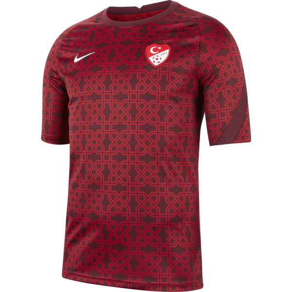 NIKE TURKIJE 20 PRE MATCH JERSEY GYM RED/NIGHT MAROON/WHITE