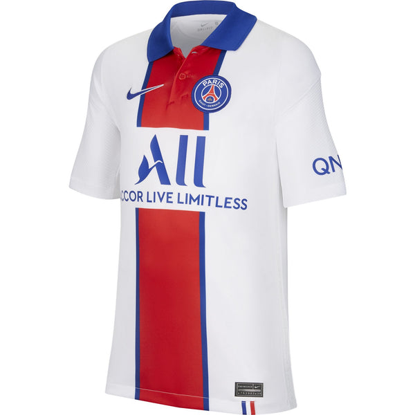 NIKE JR PSG 20-21 AWAY JERSEY WHITE/OLD ROYAL