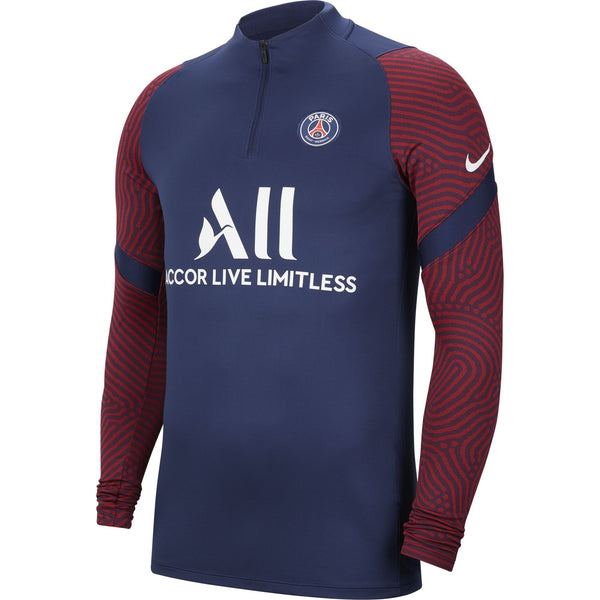 NIKE PSG 20-21 STRIKE DRILL TOP MIDNIGHT NAVY/WHITE/RED