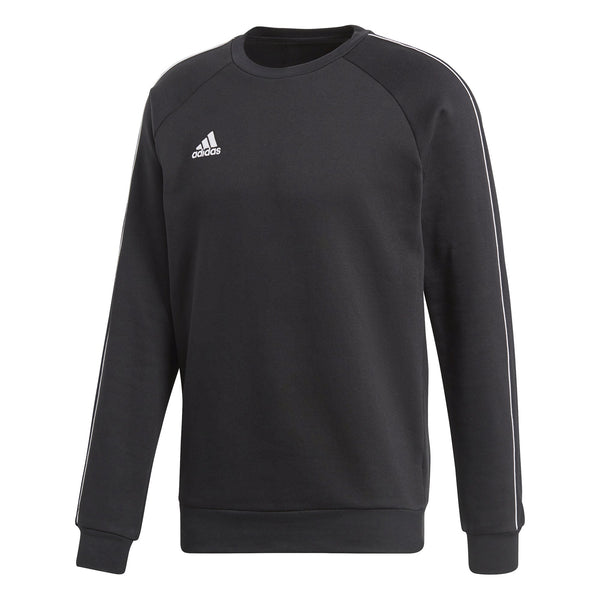 ADI CORE 18 SWEAT TOP BLACK/WHITE