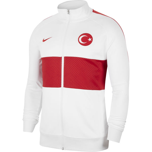 NIKE TURKIJE 20 TRACK JACKET WHITE/SPORT RED