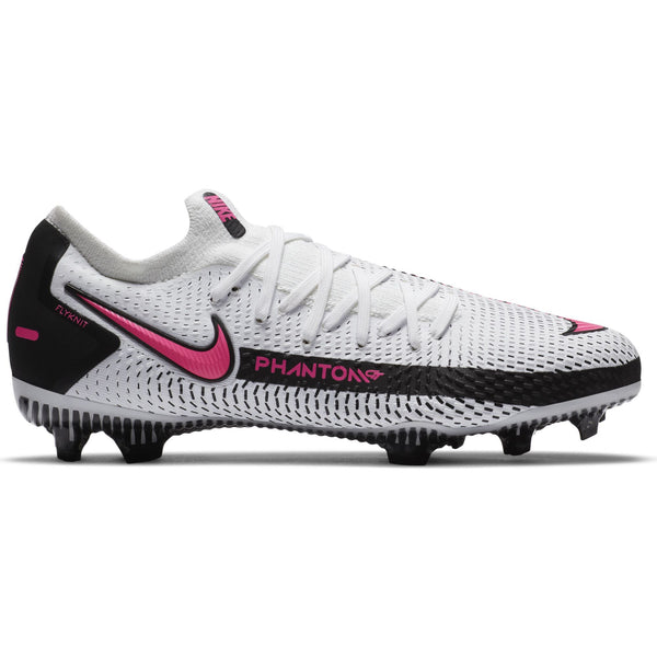 NIKE JR PHANTOM GT PRO FG WHITE/PINK BLAST/BLACK