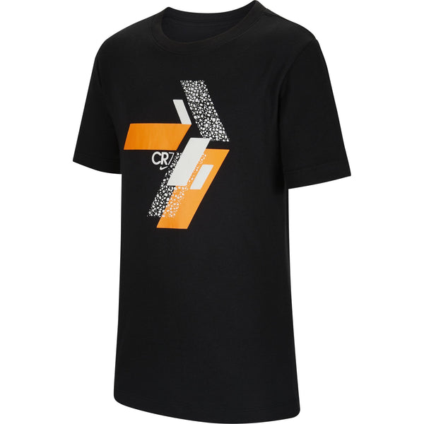 NIKE JR CR7 SAFARI TEE BLACK