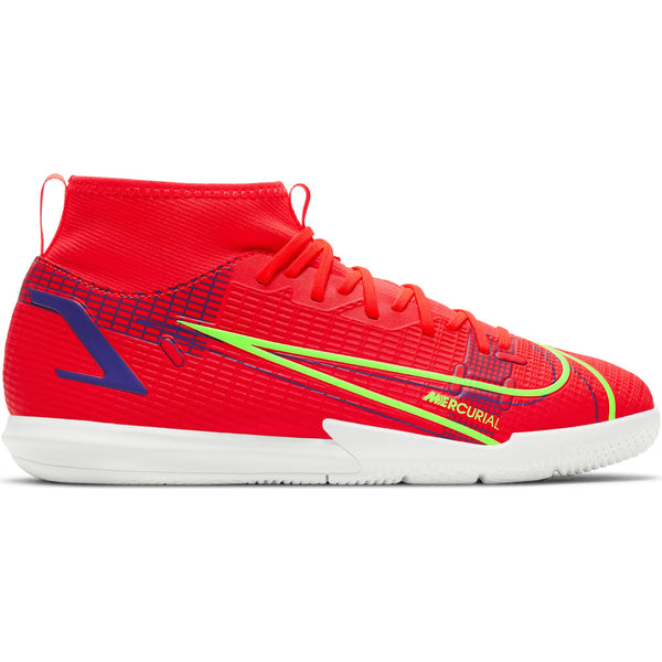 NIKE JR MERCURIAL SUPERFLY 8 ACADEMY IC BRIGHT CRIMSON/SILVER