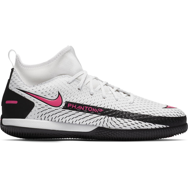 NIKE JR PHANTOM GT DF ACADEMY IC WHITE/PINK BLAST/BLACK