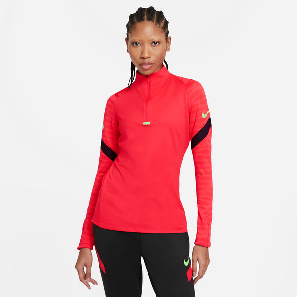 NIKE WMN DRY-FIT ACADEMY21 STRIKE DRILL TOP SIREN RED/BLACK/GREEN STR