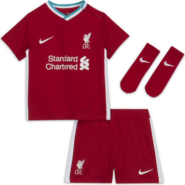 NIKE JR LIVERPOOL 20-21 INF HOME KIT GYM RED/WHITE