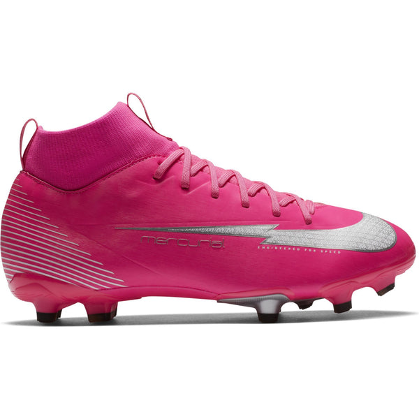 NIKE JR MERCURIAL SUPERFLY 7 ACADEMY FG MBAPPÉ PINK BLAST/WH