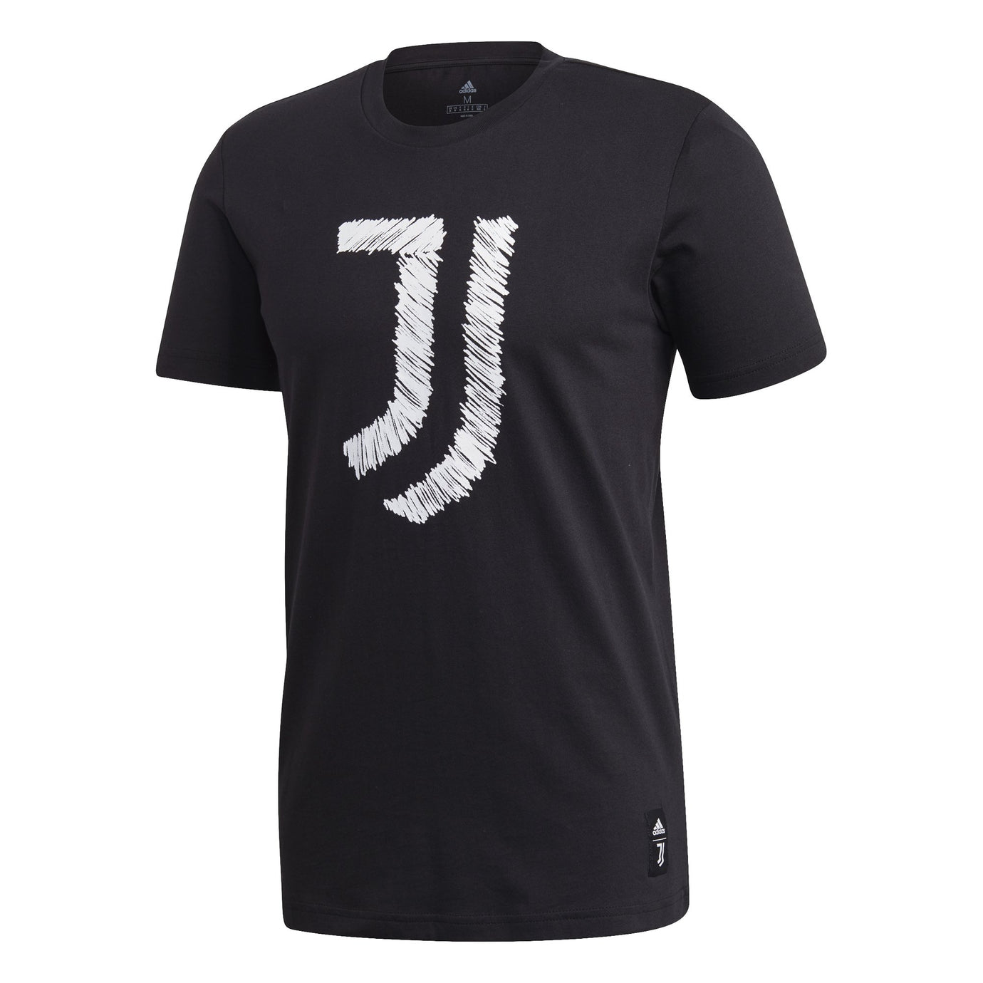 ADI JUVE 20-21 DNA GRAPHIC TEE BLACK/WHITE