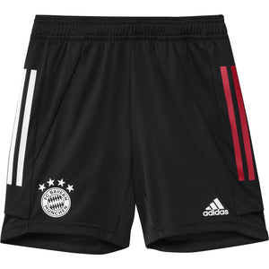 ADI JR BAYERN 20-21 TRG SHORT BLACK/TRUE RED