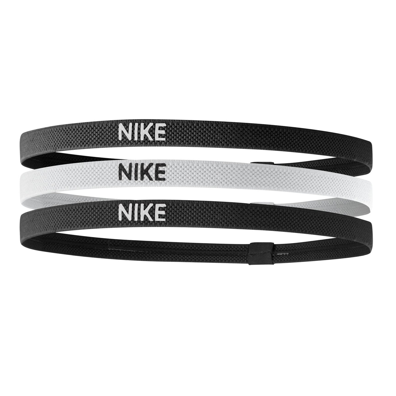 NIKE ELASTIC HAIRBAND 3p. BLACK/WHITE/BLACK
