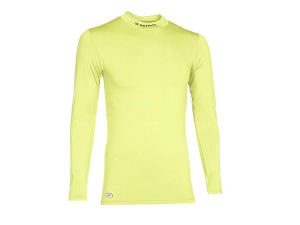 PATRICK PAT120 SKIN SHIRT TURTLE NECK LS NEON YELLOW
