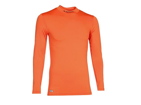 PATRICK PAT120 SKIN SHIRT TURTLE NECK LS ORANGE